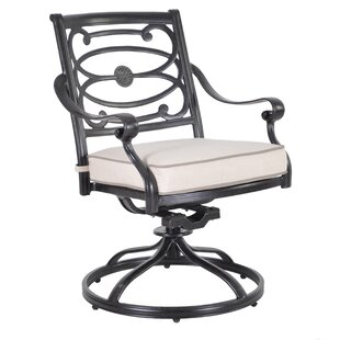 Croydon Swivel Patio Dining Chair with Cushion (Set of 2)