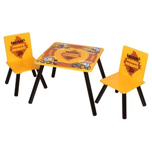 Glidden Children's 3 Piece Square Table And Chair Set By Zoomie Kids