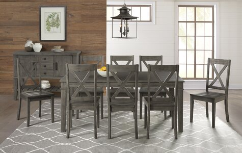 Gracie Oaks Ridgley 9 Piece Extendable Solid Wood Dining