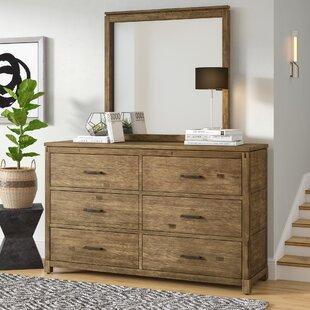 Seleukos 6 Drawer Double Dresser with Mirror by Mercury Row
