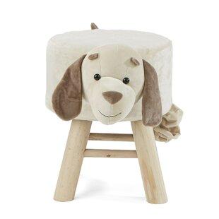 Children's Favorite Dog Animal Kid Stool and Ottoman ByMind Reader