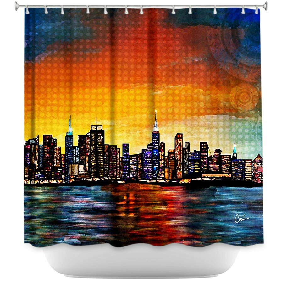 DiaNocheDesigns New York Skyline Shower Curtain