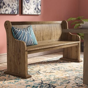Devereaux Wood Bench by World Menagerie