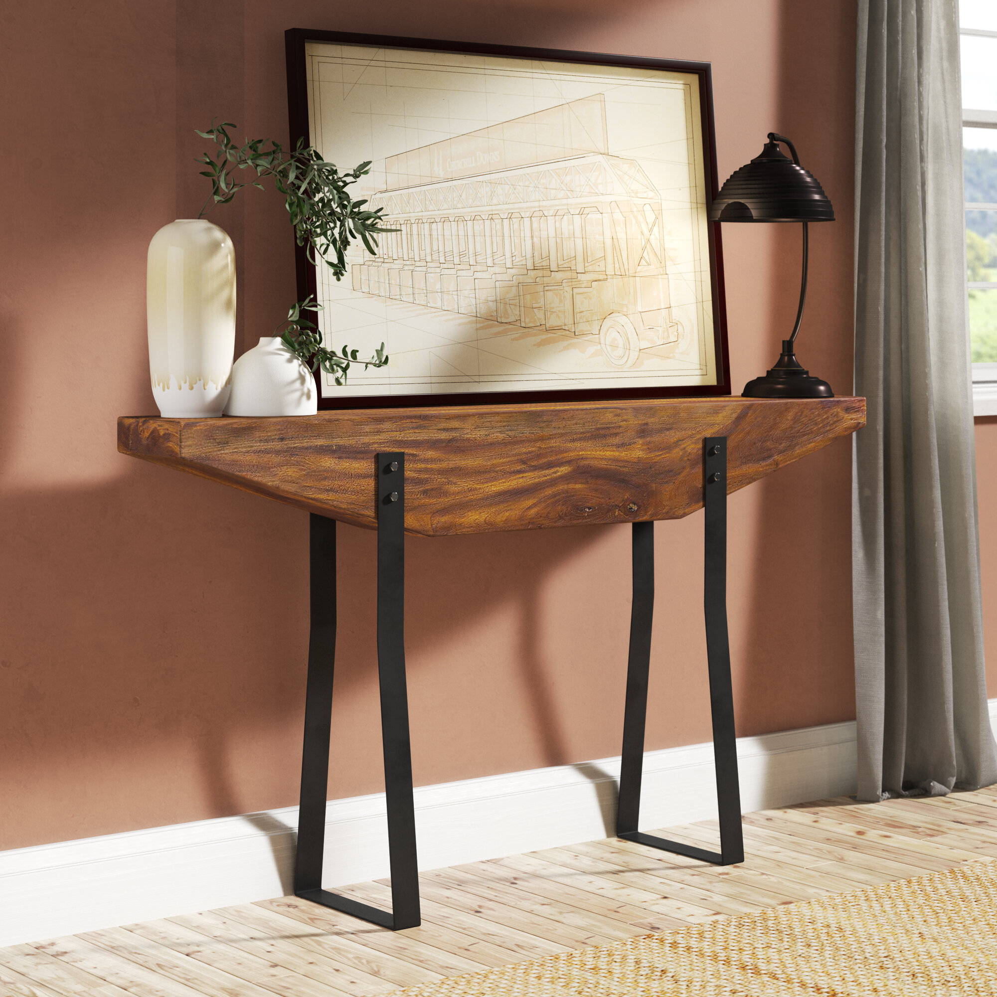 Williston Forge Valor 58 Solid Wood Console Table Reviews Wayfair