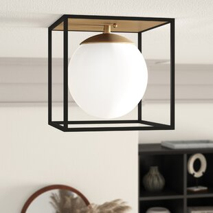 Katsikis 1-Light Semi Flush Mount by Mercury Row