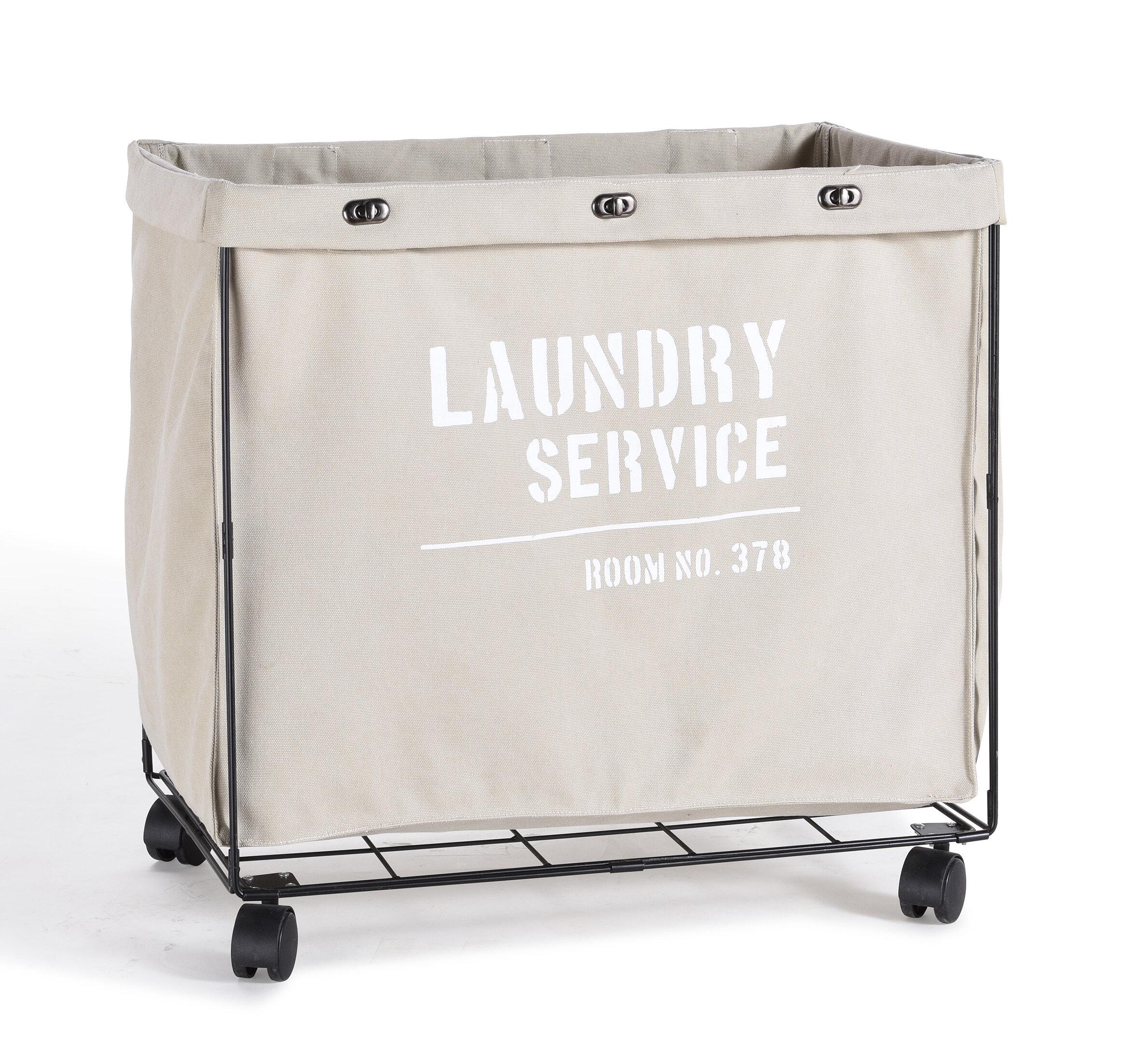 Lanham Army Laundry Hamper On Wheel