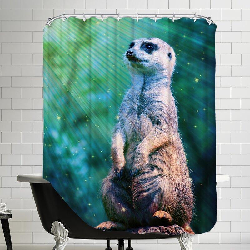 East Urban Home Meerkat With Stars Single Shower Curtain Wayfair