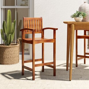 Caldwell Patio Bar Stool (Set of 2) by Mistana