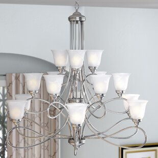 Three Posts Norwood 15-Light Shaded Chandelier