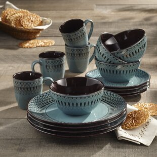 Fukuoka 16 Piece Dinnerware Set Service for 4 & Paisley Dinnerware | Wayfair