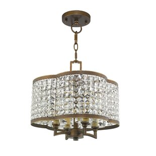 Willa Arlo Interiors Wetzel 4-Light Crystal Chandelier