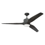 """60"""" Paige 3 - Blade LED Propeller Ceiling Fan with Remote Control and Light Kit Included"""