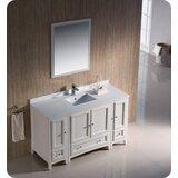 Oxford 54 Single Bathroom Vanity Set with Mirror by Fresca