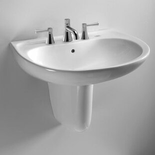 Supreme Ceramic 22 Wall Mount Bathroom Sink with Overflow Toto