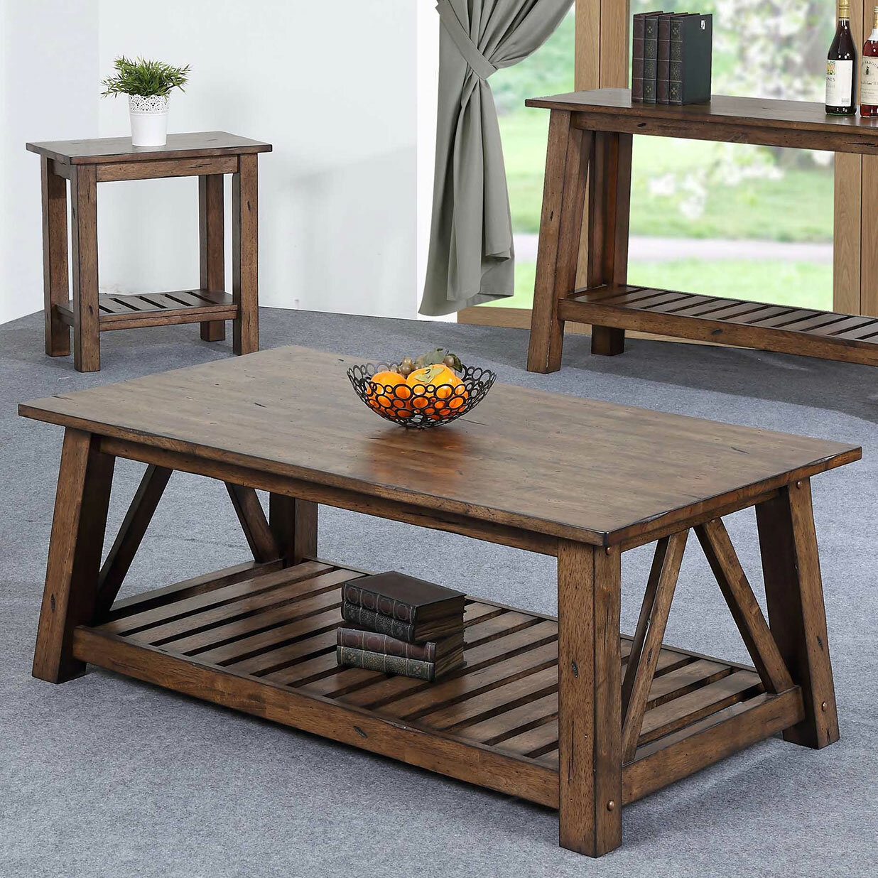 Rosecliff Heights Rutledge Solid Wood Coffee Table With Storage Reviews Wayfair