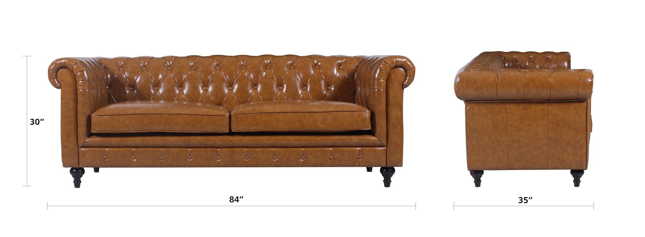 Chesterfield Sofa Brown LeatherOldschool Chesterfield Sofa Bed Vintage  Brown Leather Textile By