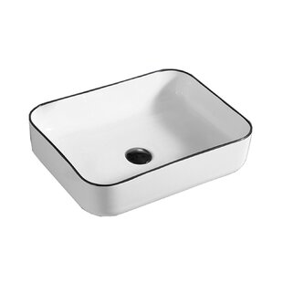 Affordable Price Above Ceramic Rectangular Vessel Bathroom Sink By Hometure