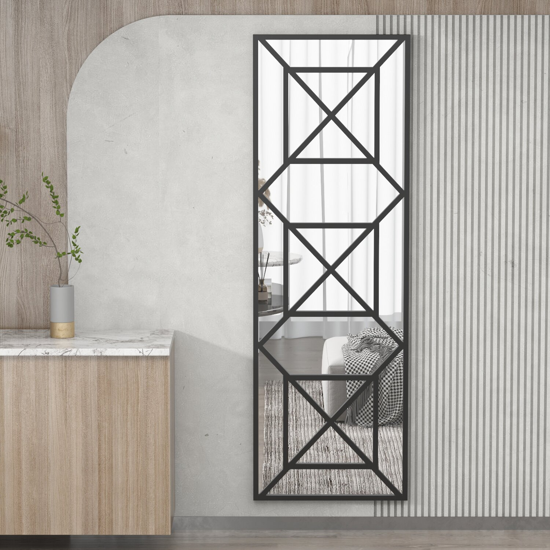 Modern Geometric Wall Decor - Vertical Wall Mirror