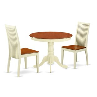 Brendan 3 Piece Breakfast Nook Solid Wood Dining Set
