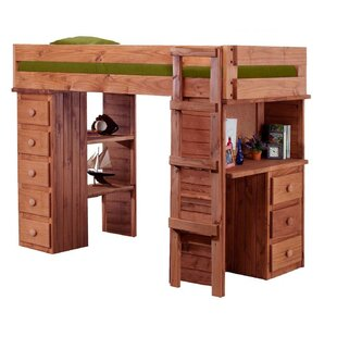 Chronister Twin Loft Bed with Desk and Chest by Harriet Bee