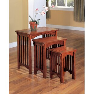 Palm Simple Mission Design Solid Wood 3 Piece Nesting Tables by August Grove