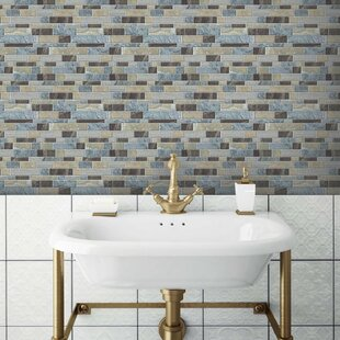 10 5 X Pvc L Stick Mosaic Tile In Blue