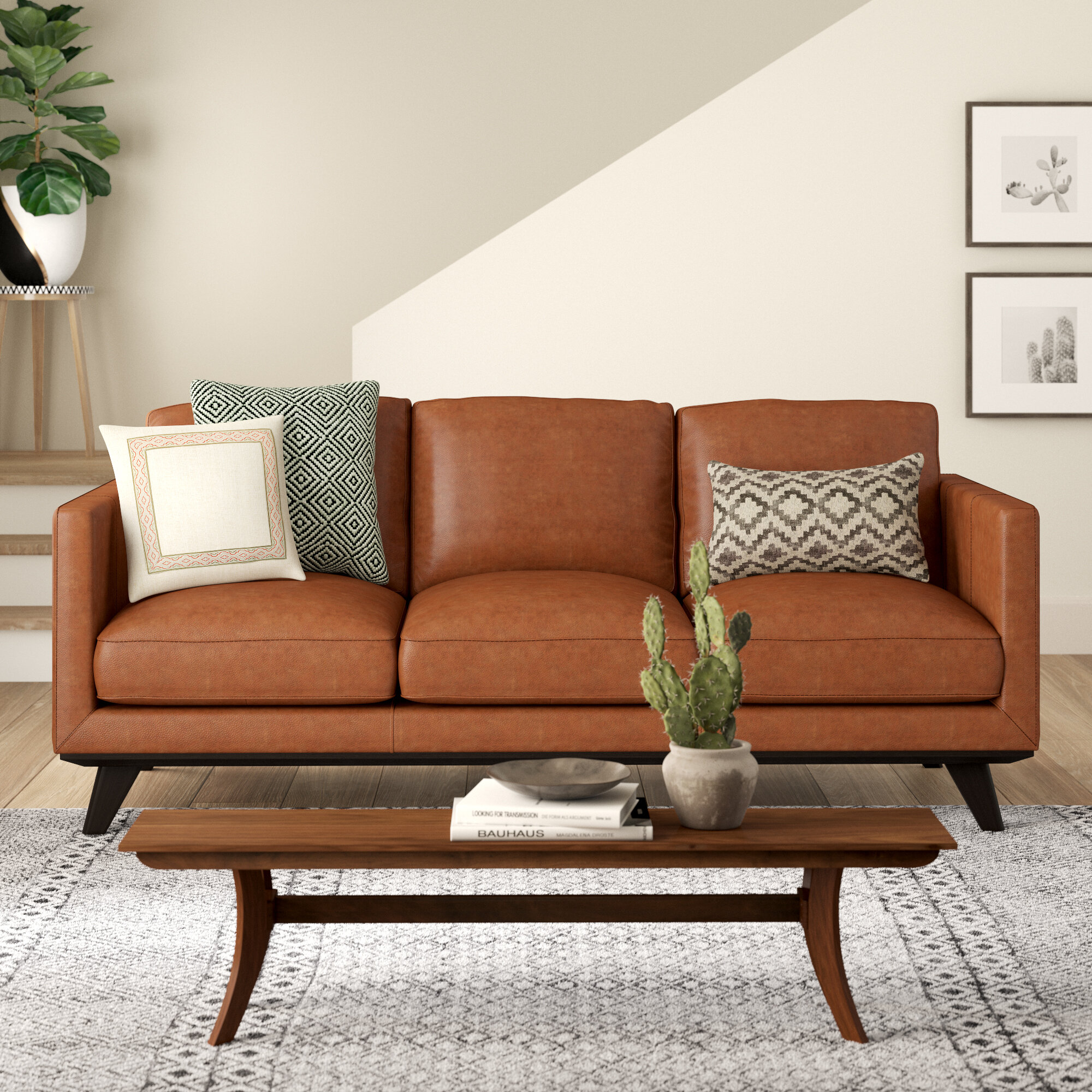 - Norvin Leather Sofa & Reviews AllModern