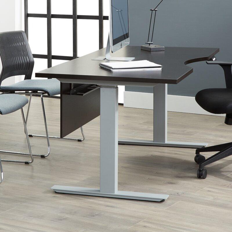 "Comm Office  Ose Standing Desk Color: Espresso, Size: 55"" W x 31.5"" D"