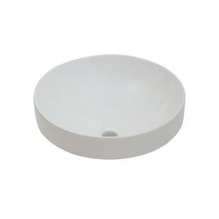 Affordable Price Ceramic Circular Vessel Bathroom Sink ByHazelwood Home