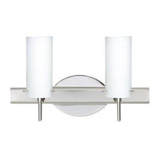 Copa 2-Light Vanity Light by Besa Lighting