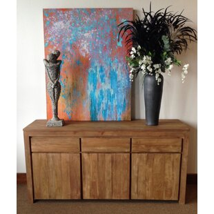 Hortensia Recycled Teak 3 Door Sideboard by Loon Peak
