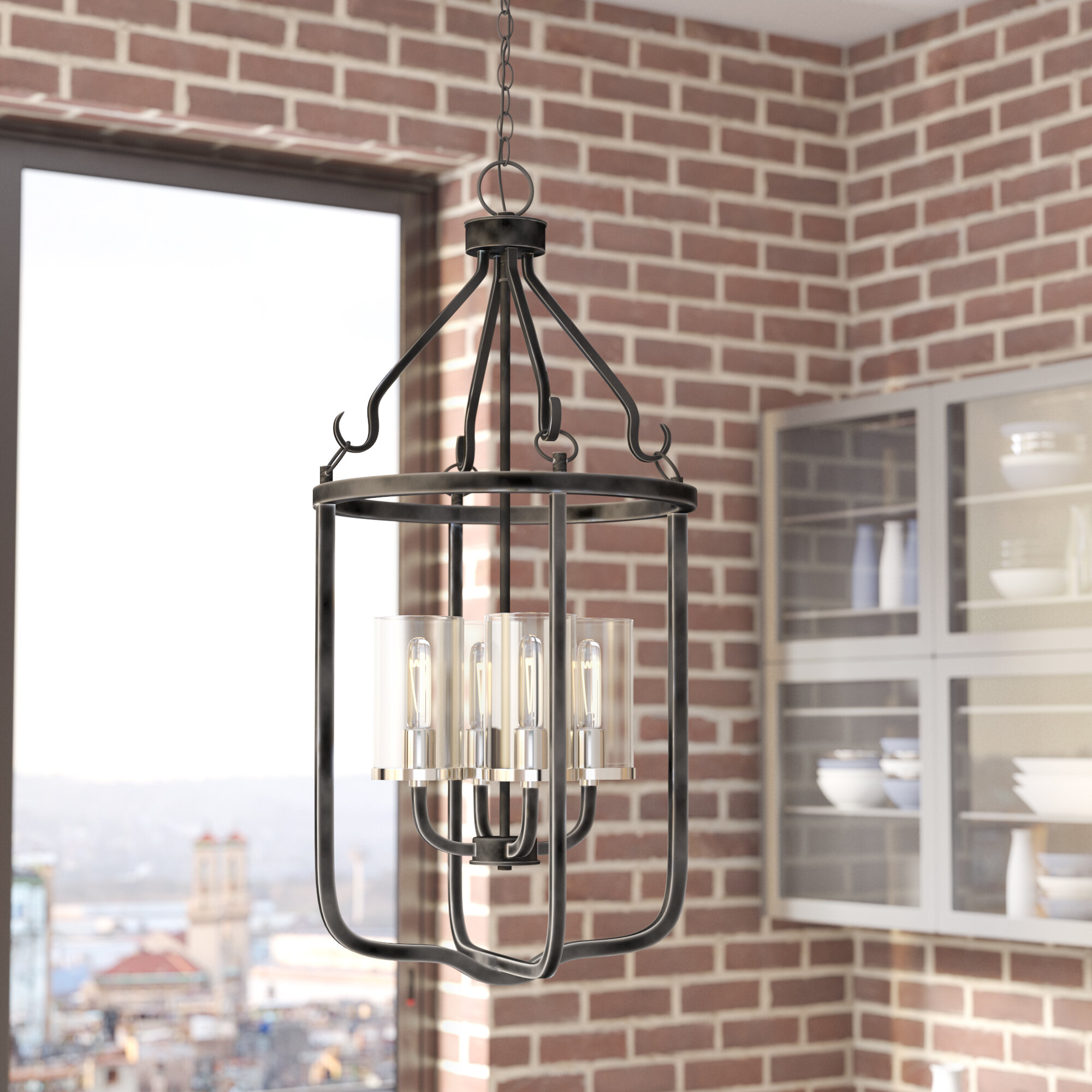 Kylee 4 light lantern pendant