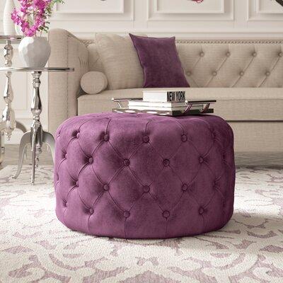 Fabulous Willa Arlo Interiors Kaia Tufted Ottoman Upholstery Plum Theyellowbook Wood Chair Design Ideas Theyellowbookinfo