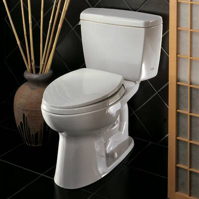 Toto Supreme Ii High Efficiency 128 Gpf Elongated One Piece Toilet
