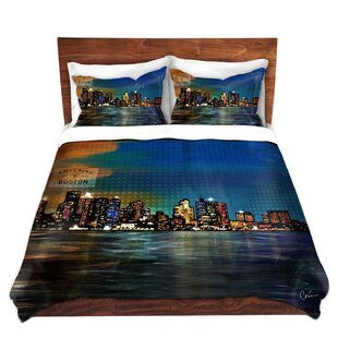 East Urban Home Boston Skyline Duvet Set