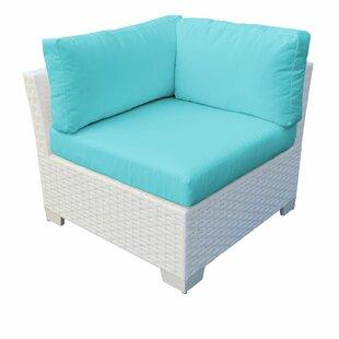 TK Classics Monaco Corner Patio Chair with Cushion