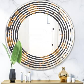 East Urban Home Capital Honeycomb Modern Contemporary Accent Mirror