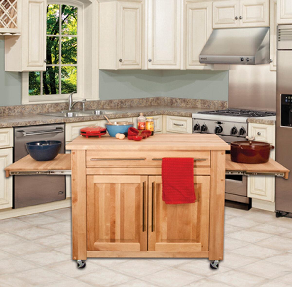 Catskill craftsmen kitchen island with butcher block top reviews wayfair