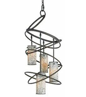 Woodbridge Lighting Loop 4-Light Shaded Chandelier