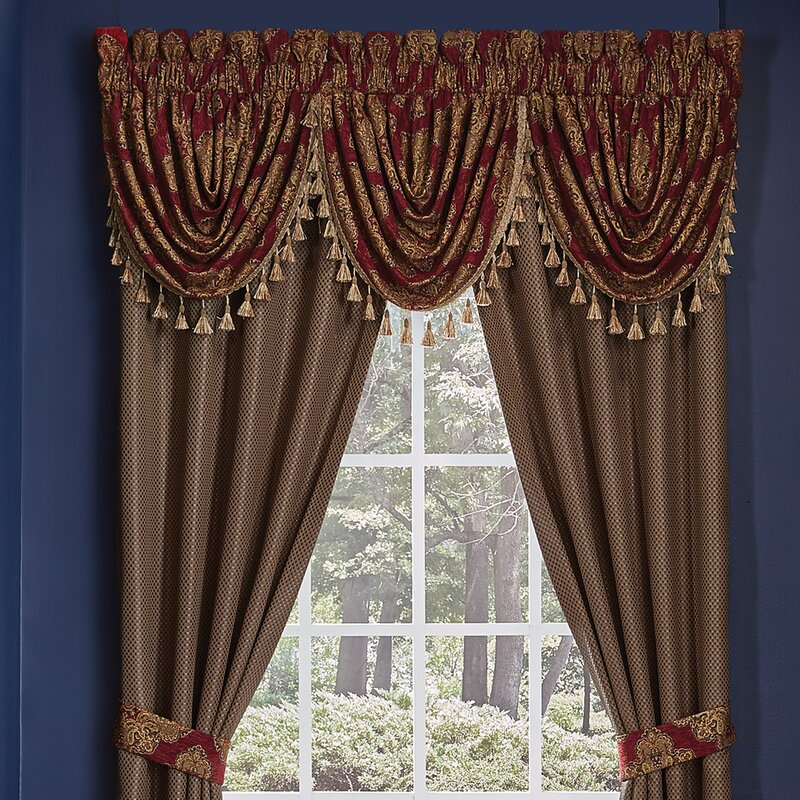 color curtain valance valances ruffled windows swags filler set and for curtains floral plus bay window swag treatments large piece multi