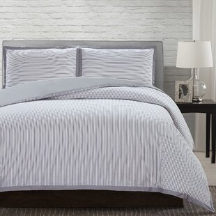 Cardella 100% Cotton 3 Piece Reversible Duvet Cover Set