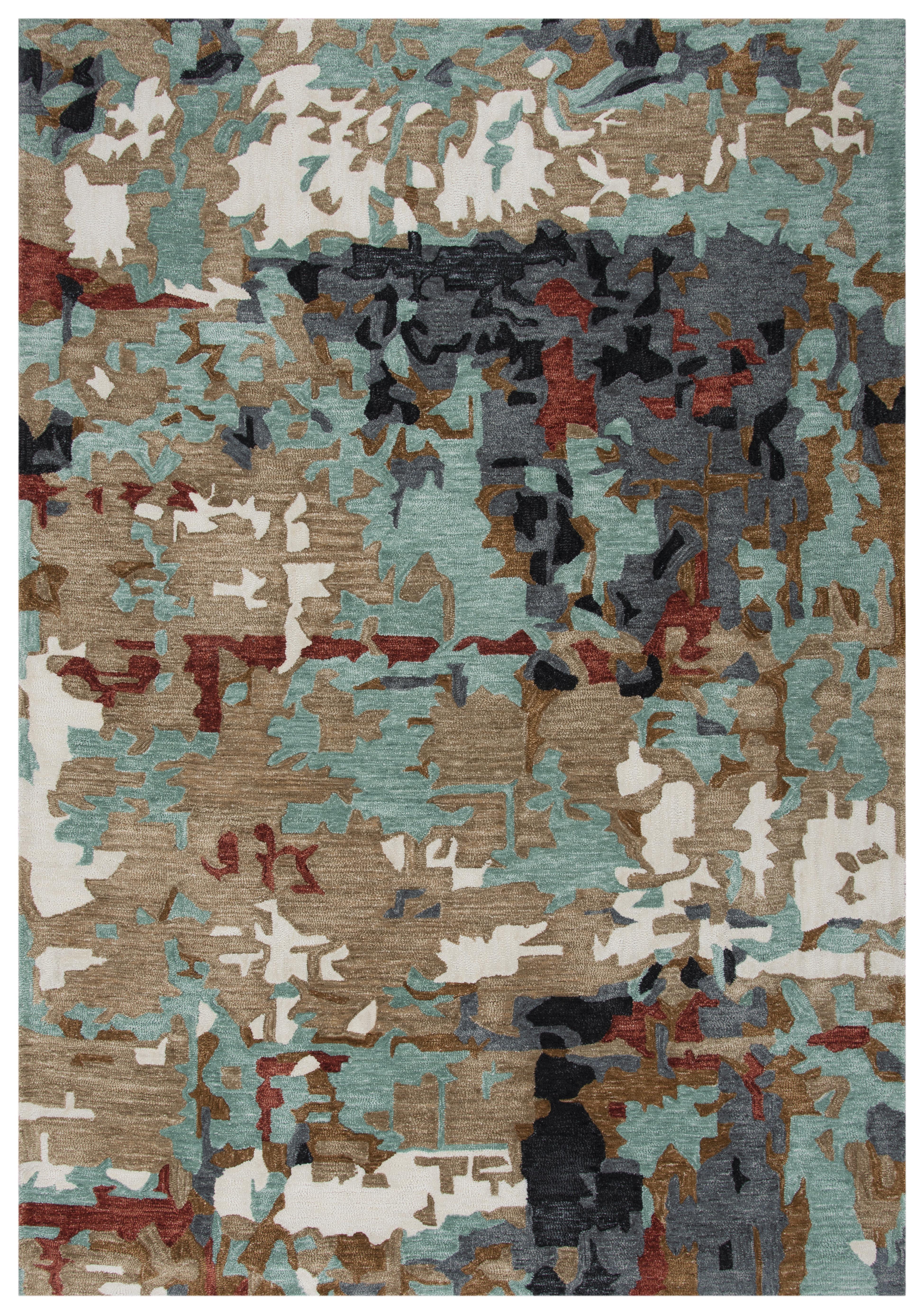 Latitude Run Valmir Tufted Polyester Blue Gray Brown Area Rug Wayfair