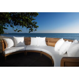 Limited Teak Patio Sectional with Cushion