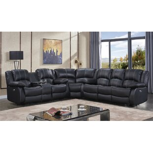 Kilmer Leather Reclining Sectional by Red Barrel Studio