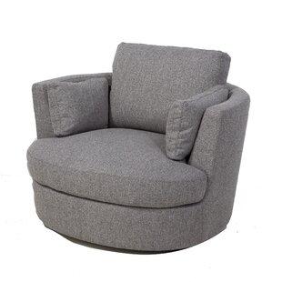 Maughan Swivel Barrel Chair by Latitude Run