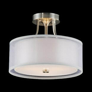 Mckinnis 3-Light Semi Flush Mount by House of Hampton