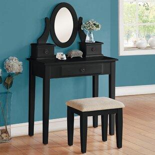 A&J Homes Studio Jayle Vanity Set with Mirror