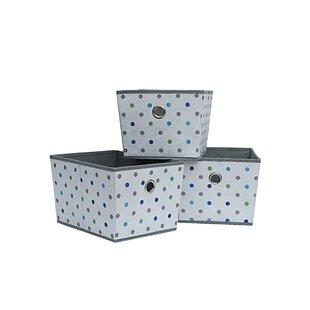 Where buy  Dot Fabric Bin (Set of 3) By Rebrilliant