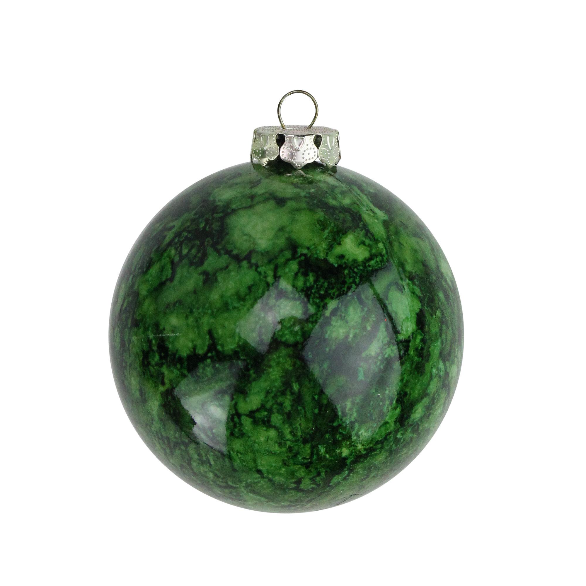 Northlight Marbled Shatterproof Christmas Ball Ornament Reviews Wayfair
