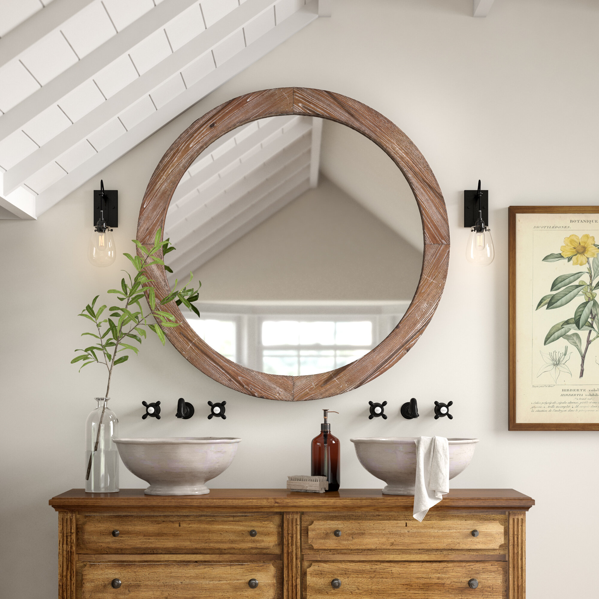 Bathroom Vanity Rustic Mirrors Free Shipping Over 35 Wayfair